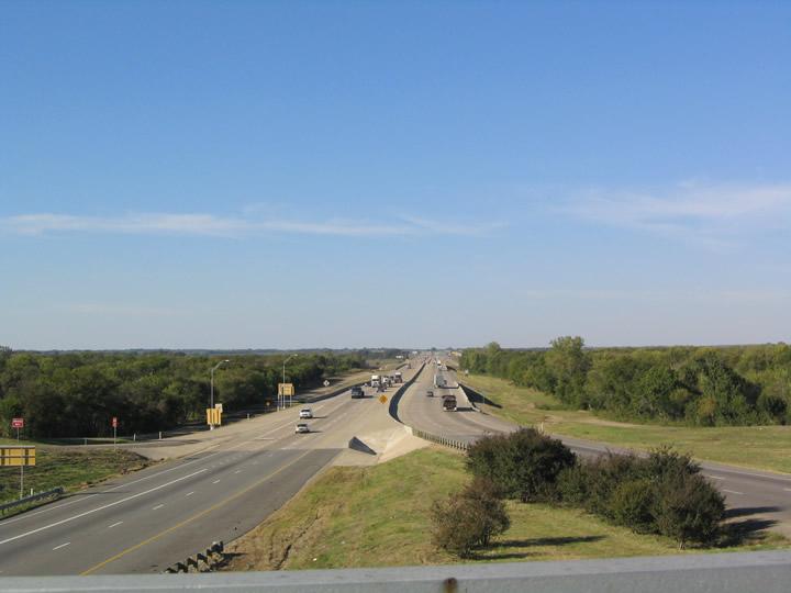 IH 45 at Chambers Creek, Texas