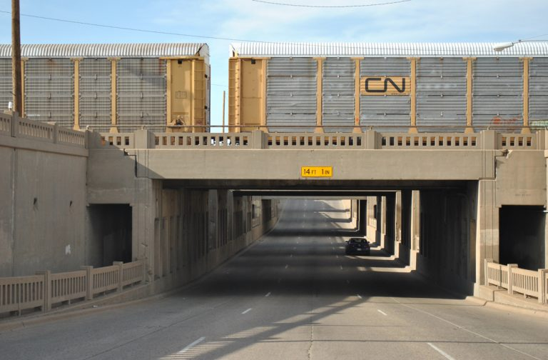 U.S. 60 & 287 - BNSF Railroad subway - Amarillo