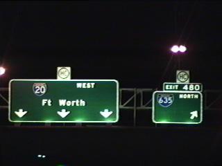IH 20 west at IH 635 north.