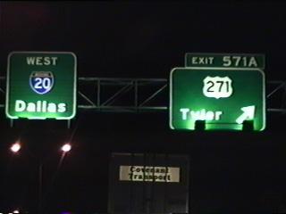 IH 20 west at US 271.