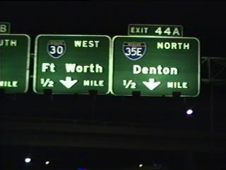 IH 30 west at IH 35E.