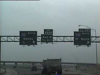 IH 35E and IH 35W separate from IH 35 south.