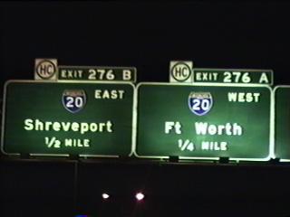 IH 45 north approaching IH 20.