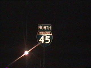 IH 45 north at milepost 276.