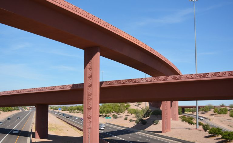 Loop 202 and U.S. 60, SuperRedTan interchange - Mesa, Arizona