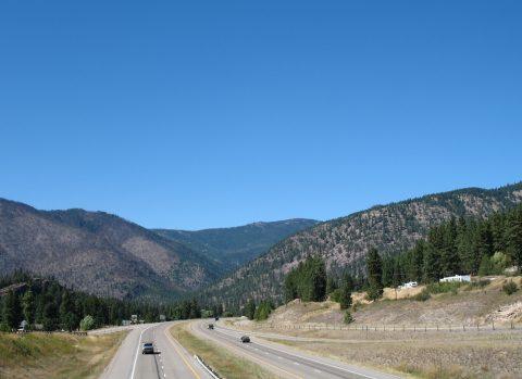I-90 at Alberton, MT