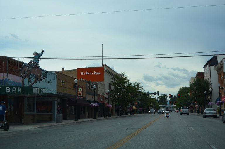 Downtown Sheridan, Wyoming.