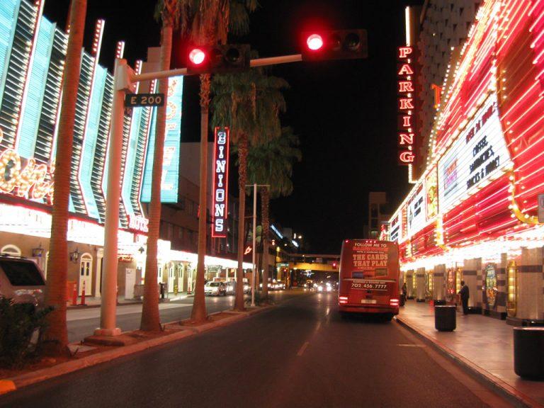 Casino Center Boulevard near Binions Casino