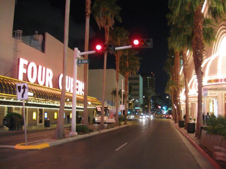 Casino Center Boulevard near Four Queens Casino