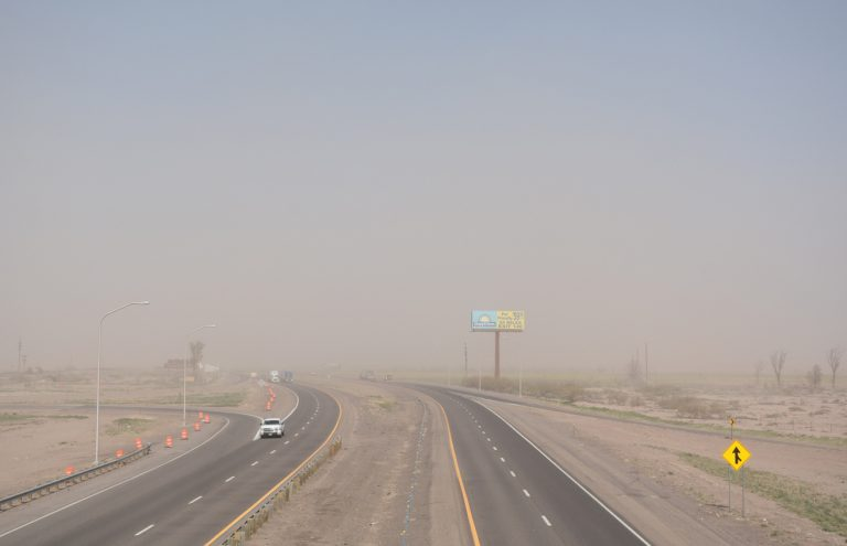 Dust Storm along I-10 at Deming, NM