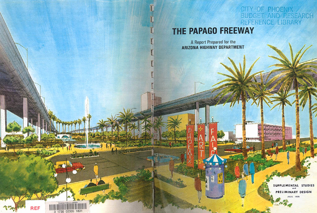 Cover of 1970 Papago Freeway study.