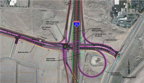 I-25 at Rio Bravo Interchange - Preferred Alternative