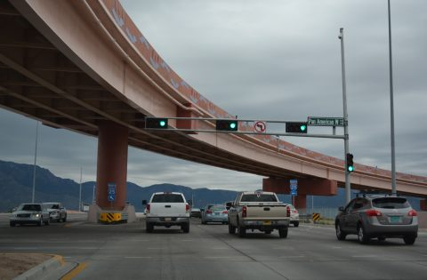 NM 423 east at I-25 / Pan American Freeway - Albuquerque