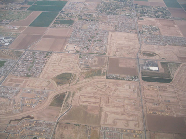 View of the 51st Avenue and Baseline Road area southwest of Phoenix.