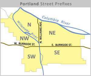 Portland Street Prefix Map - Created by Matt Strieby