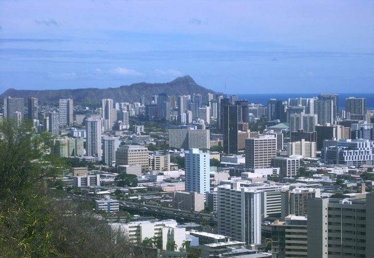 Punchbowl view of Honolulu, HI
