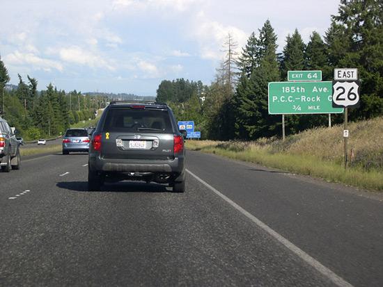 U.S. 26 east near Exit 64 - Portland, Oregon