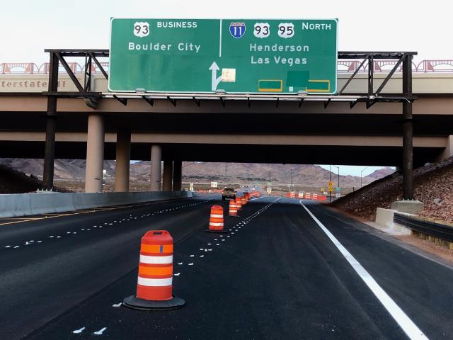 US 95 north at I-11/US 93