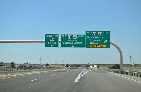 US 285 south at Roswell Relief Route
