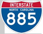 Interstate 885 North Carolina