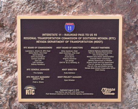 I-11 Dedication Placard