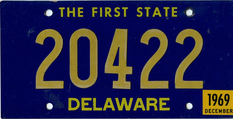 1969 Delaware Tag