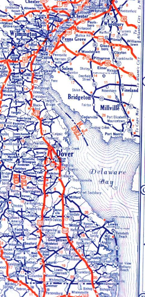 Delaware Road Maps Aaroads