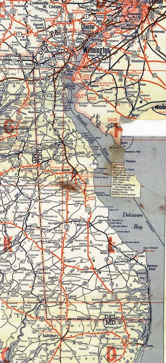 Delaware Road Map Stock Illustration - Download Image Now ...  Dover Delaware Road Map
