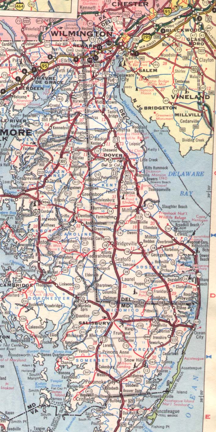 Dover Ohio Street Map 3922456  Dover Delaware Road Map