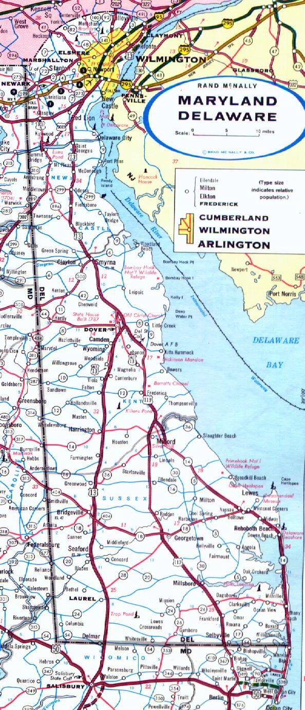 Delaware Road Maps - AARoads  Dover Delaware Road Map
