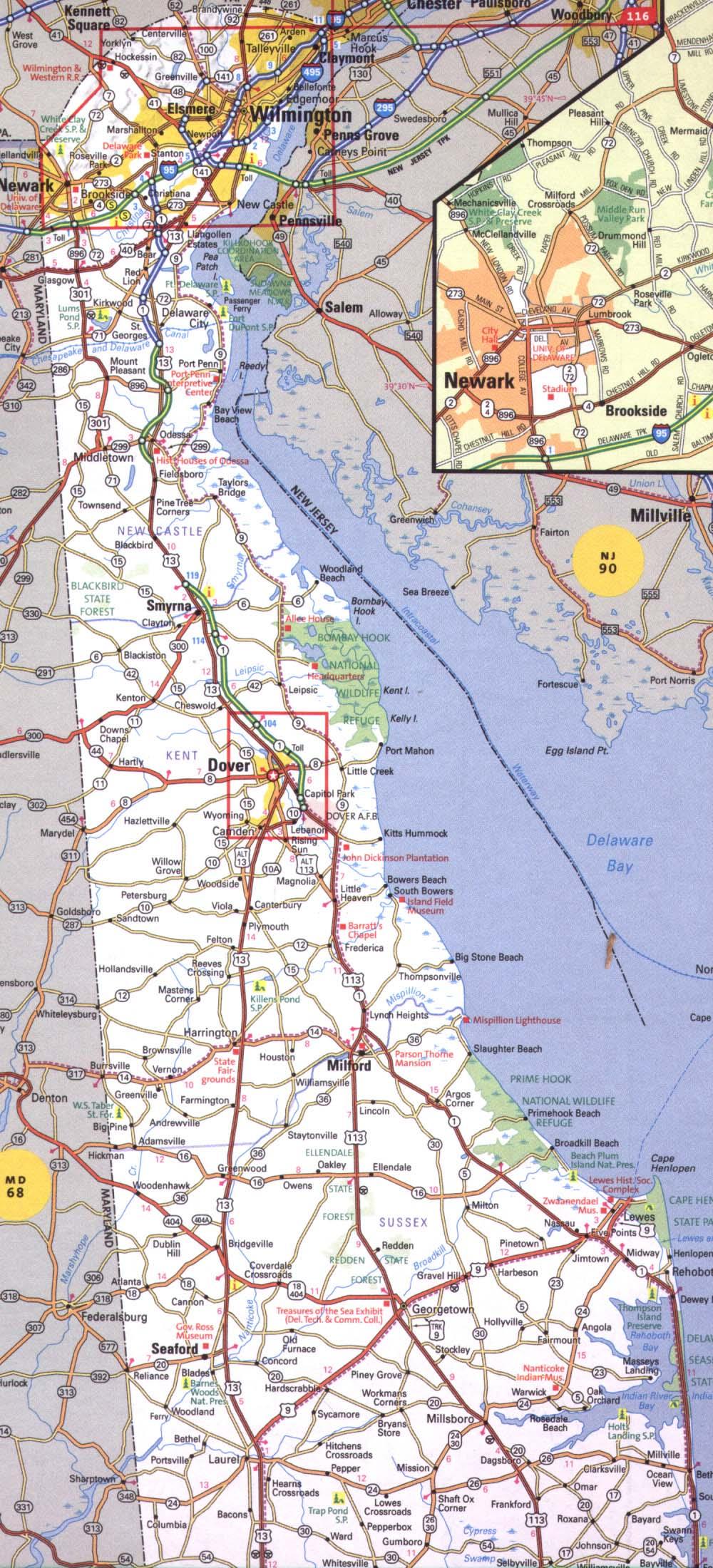 Delaware Road Maps - AARoads