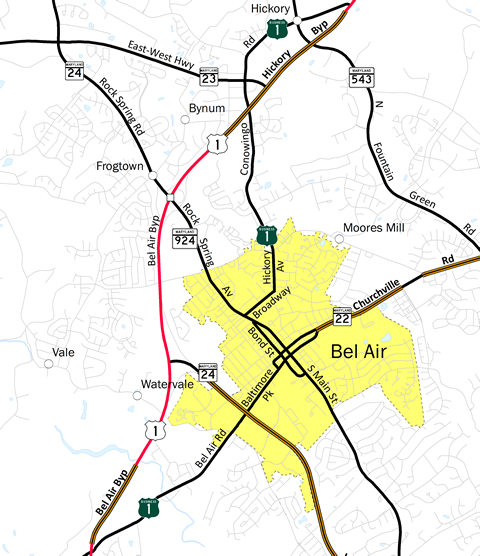 Bel Air, MD Map