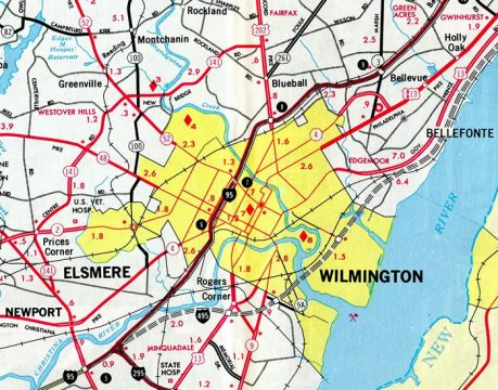 The extension of SR 4 - 1971 Official Delaware Highway Map