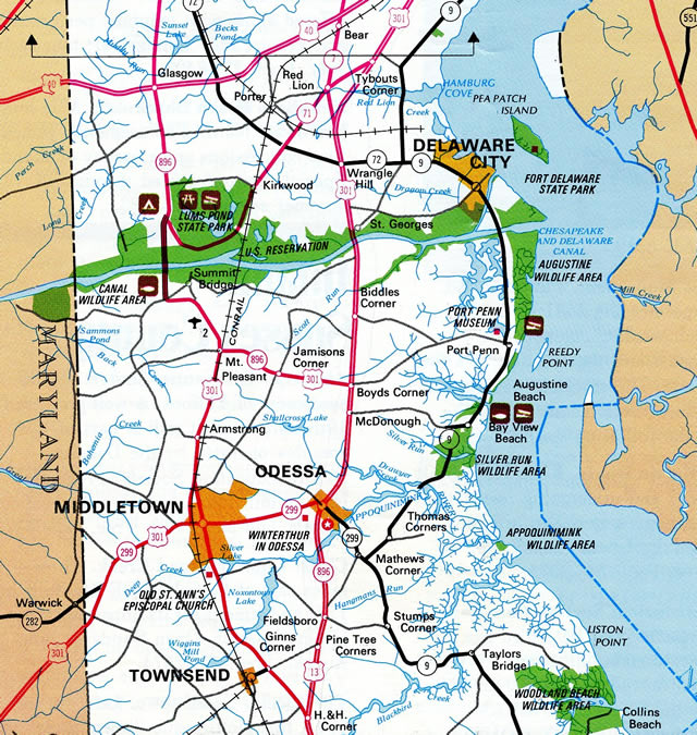 Delaware Traffic Map.Delaware 71 Aaroads Delaware