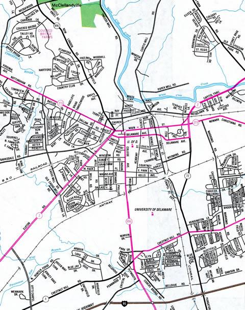 Newark - 1981 Official Delaware Highway Map