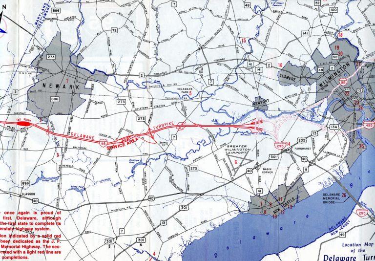 Delaware Turnpike Map
