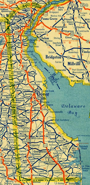 1935 Delaware Map
