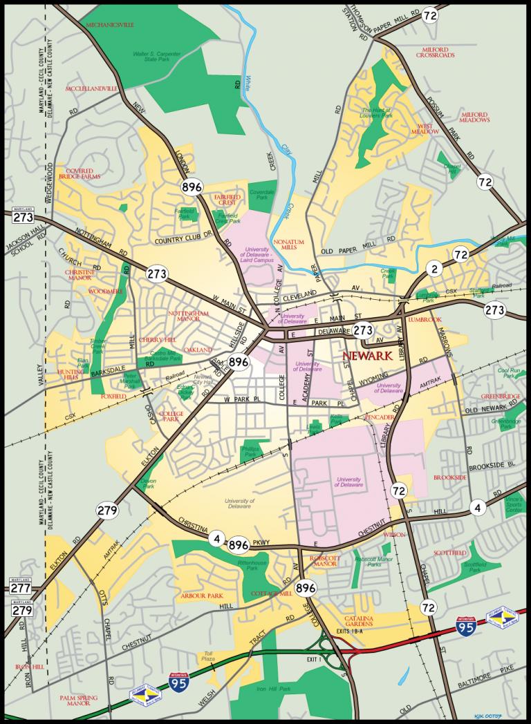 Newark, DE Map