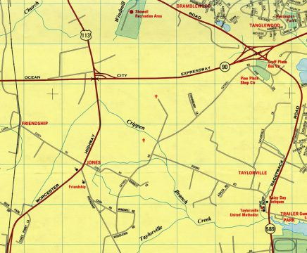 US 113/MD 90 - 1990 Map