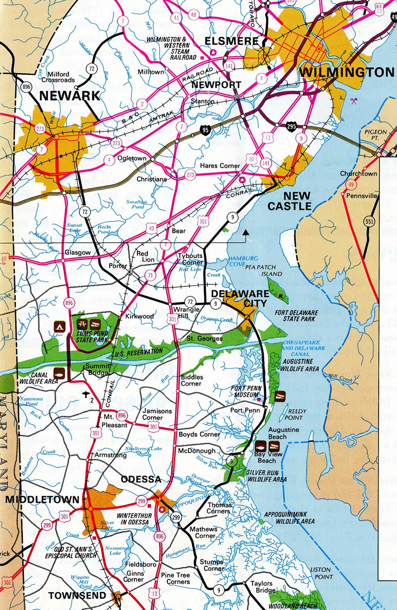 Us Route 301 Map U.S. 301   AARoads   Delaware