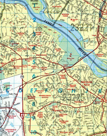 SR 76 Powhite Pkwy - 1987 Map