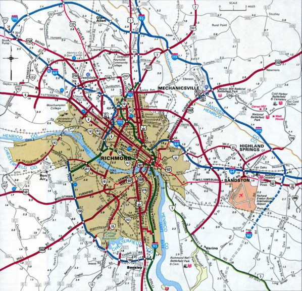 Richmond - 1984/85 Virginia Official Highway Map