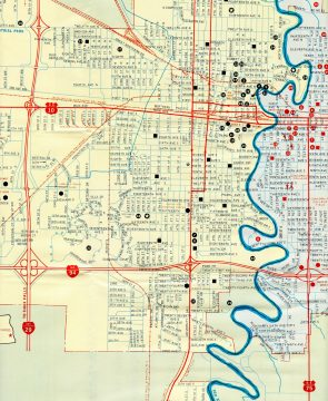 1978 Chamber of Commerce Map for Fargo-Moorhead