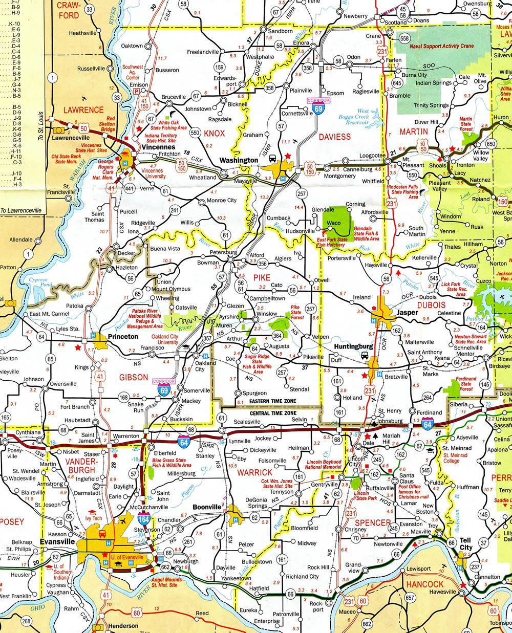I69 Indiana Map.Interstate 69 Aaroads Indiana