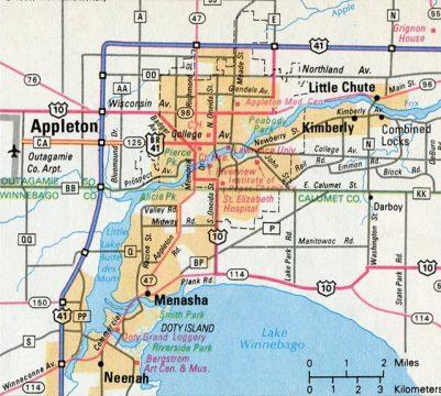 1968 Appleton Map