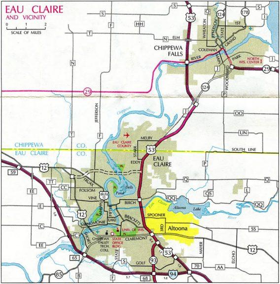 Eau Claire - 1993-94 Map