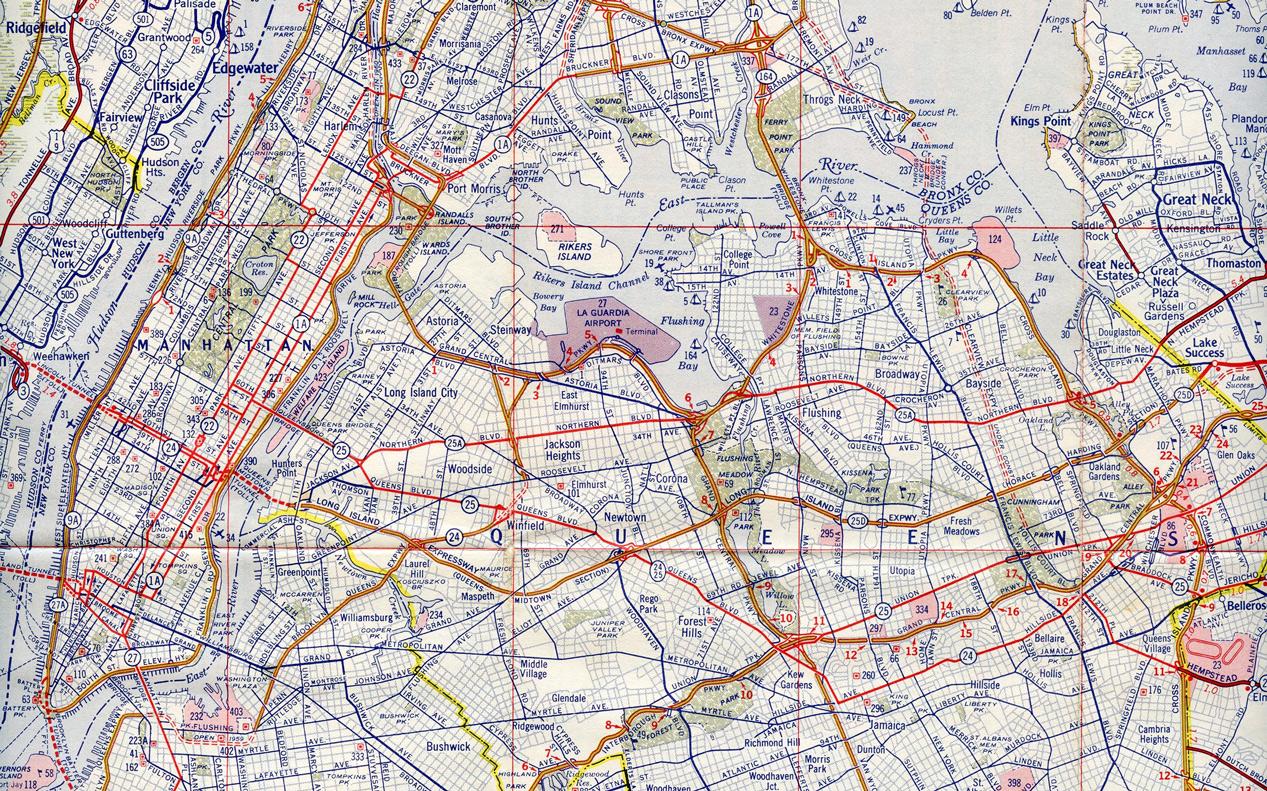 Long Island Expressway - New York - 1958