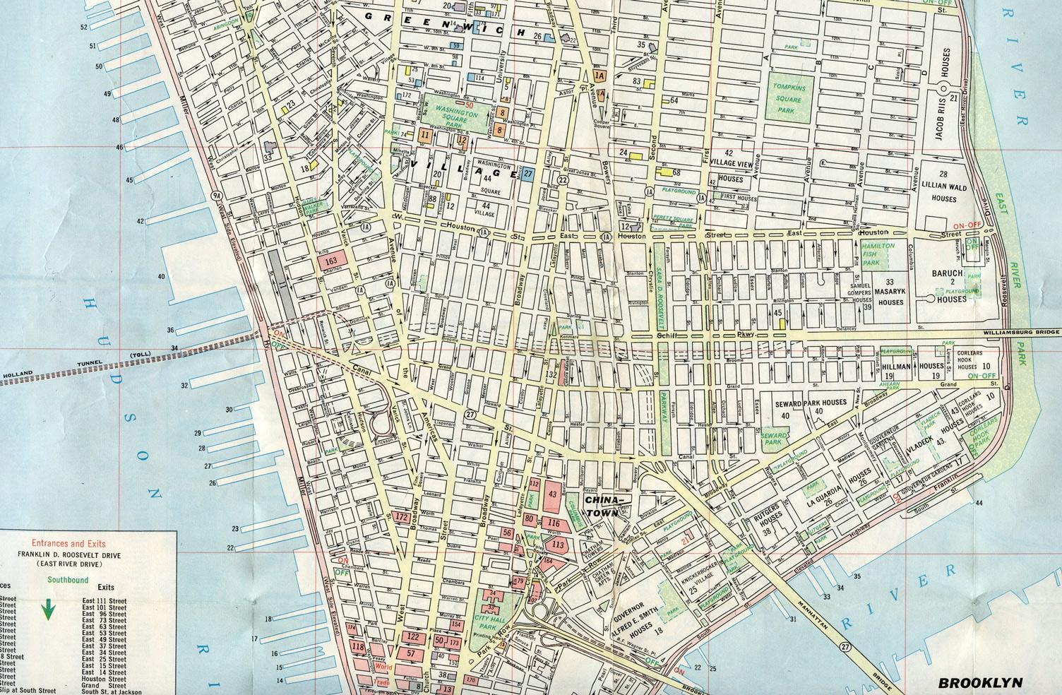 Lower Manhattan, NY - 1968