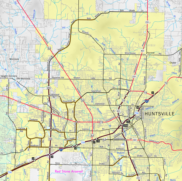 Alabama Route 255 Map