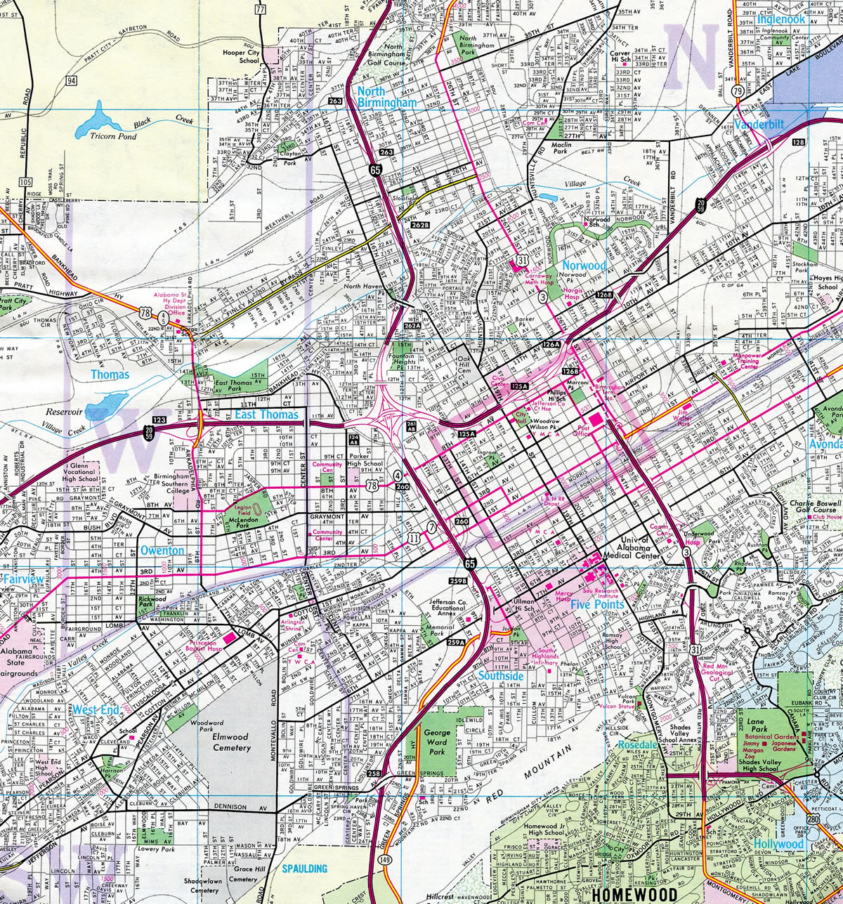 Birmingham - AARoads on interstate 70 in illinois, interstate 35 mile marker map, interstate 44 mile marker map, pennsylvania interstate 81 mile marker map, interstate highway map of texas, interstate 40 mile marker, interstate maps with mile markers,